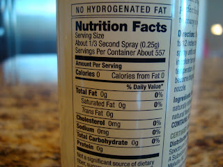 Nutritional Facts on Coconut Spray Oil