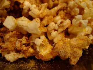 Close up of Maca Powder on popcorn