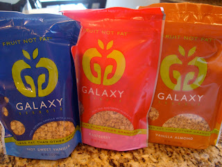 Three Flavors of Galaxy Granola packages