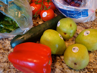 Red Pepper, Pears, Cucumber