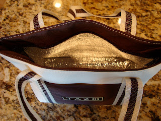 Overhead of Tazo tote bag