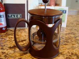 French Press on countertop