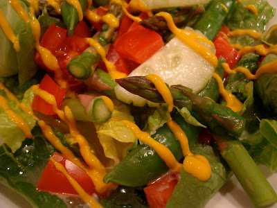 Salad with Homemade Vegan Slaw Dressing and Mustard