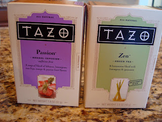 Passion and Zen Tazo Tea boxes