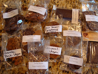 Various chocolate goodies on countertop