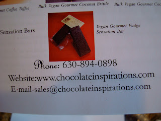 Chocolate Inspirations business card