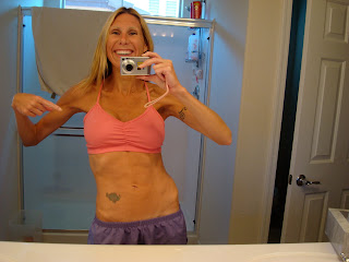 Woman wearing Pink Sports Bra