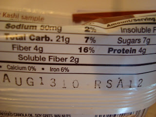 More nutritional facts on back of bar