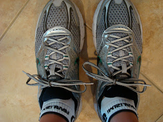 Insoles places in shoes with shoes on feet