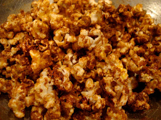 Popcorn in bowl with Chinese Five Spice