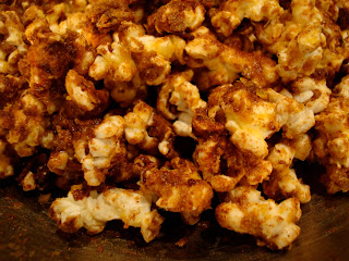 Close up of popcorn in bowl