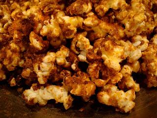 Close up of Coconut Oil & Five Spice Popcorn