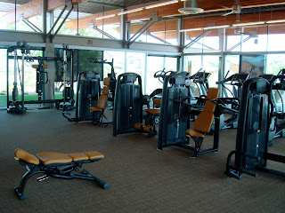 Inside gym showing equipment