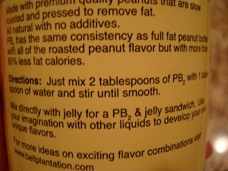 Information on how to use powdered peanut butter