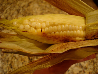 Peeling off husk of corn