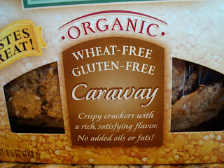 Close up of box of Caraway Mary's Gone Crackers