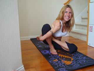 Woman doing Marichyasana B yoga pose