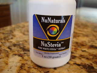 Container of NuNaturals NuStevia Pure White Stevia Extract