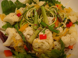 Mixed Vegetable Salad with spiralized noodles