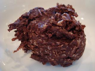 Raw Vegan Chocolate Coconut Snowball on white plate