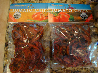 Two bags of tomato chips