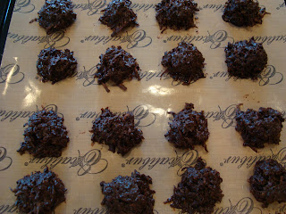 Overhead of Vegan Chocolate Macaroons out of dehydrator