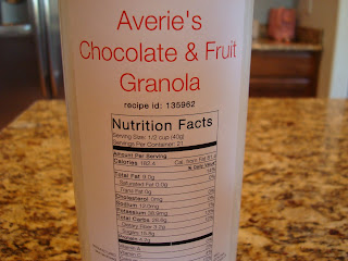 Nutritional Facts for cereal on container