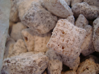 "Peanut Butter Chex Mix, aka ""Puppy Chow"""