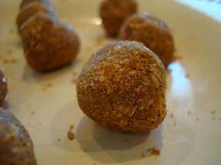 Side view of Pumpkin Spice Donut Holes on white plate