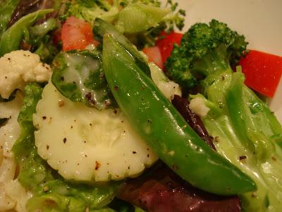 Salad with Raw Vegan Creamy Tahini Cesar-Inspired Dressing