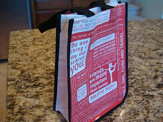 Reusable LuluLemon Shopping bag on countertop