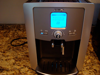 Front of Espresso Maker on countertop