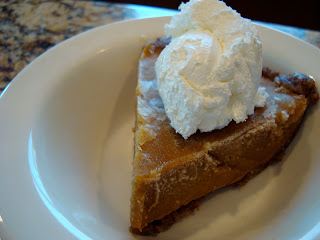 Side of No-Bake Vegan Pumpkin Pie topped with whipped topping