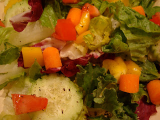 Close up of simple salad with vegetables