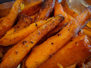Stacked Sweet Potato Fries