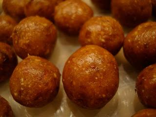 Close up of Raw Vegan Sugar Cookie Dough Balls