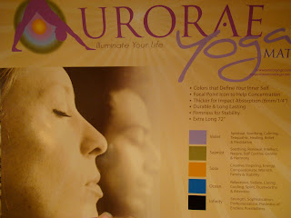 Close up of Aurorae Yoga yoga mat