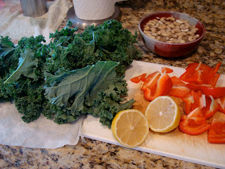 Ingredients needed to make Kale Chips