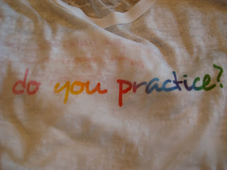 Shirts saying do you practice?