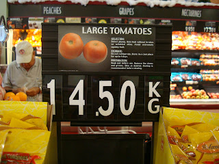 Aruban Price for Large Tomatoes