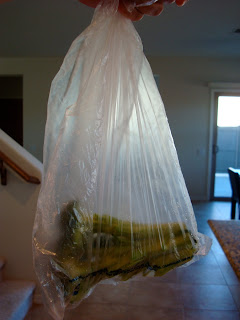 Bag of Broccoli Crown almost gone