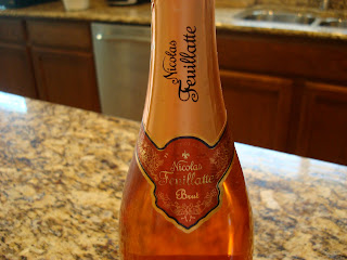 Neck of bottle of champagne