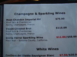 Champagne & Sparkling Wine drink list