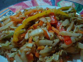 Close up of Vegan Stir Fry on plate
