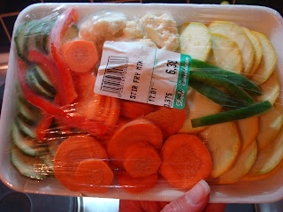 Close up of Stir Fry Mix in package