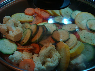 Stir Fry Mix in pan with lid