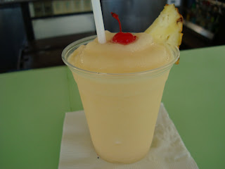 Pina Colada in clear cup