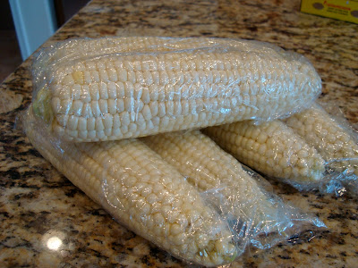 Stacked wrapped up corn