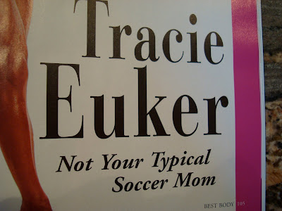 Close up of article titled Tracie Euker Not Your Typical Soccer Mom