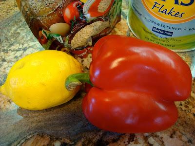 Red pepper and lemon